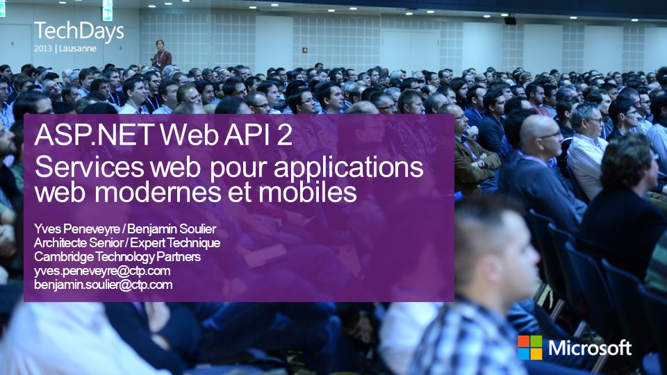 Services web pour applications web modernes et mobiles