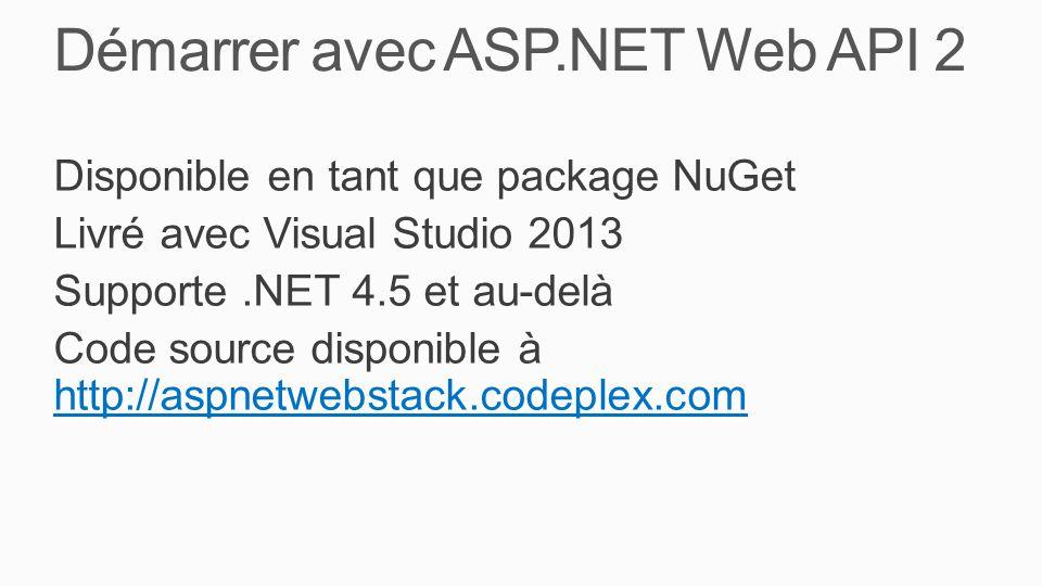 Démarrer avec ASP.NET Web API 2