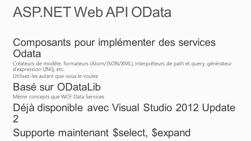ASP.NET Web API OData Composants pour implémenter des services Odata