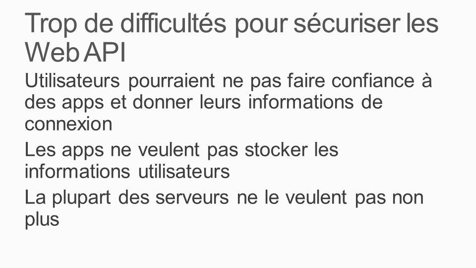 Trop de difficultés pour sécuriser les Web API