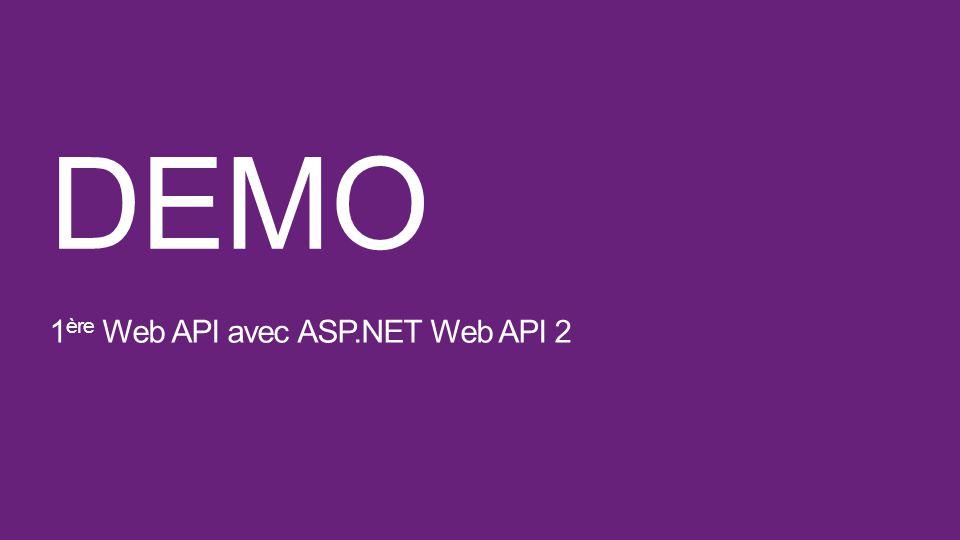 DEMO 1ère Web API avec ASP.NET Web API 2