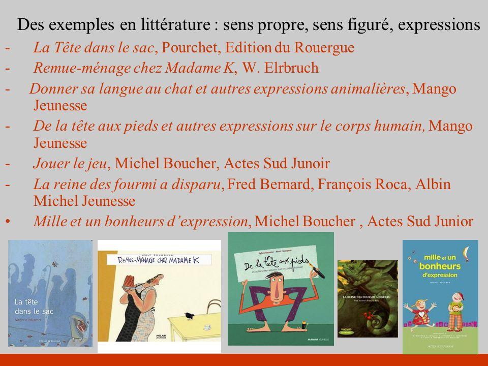 Des exemples en littérature : sens propre, sens figuré, expressions