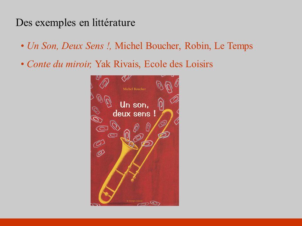 Des exemples en littérature