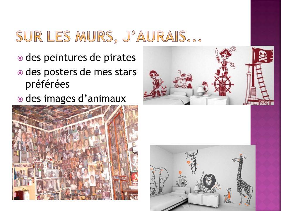 Sur les murs, j'aurais... des peintures de pirates