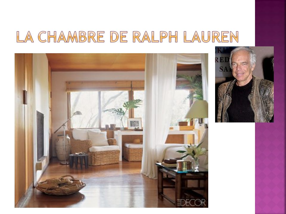 La chambre de Ralph Lauren