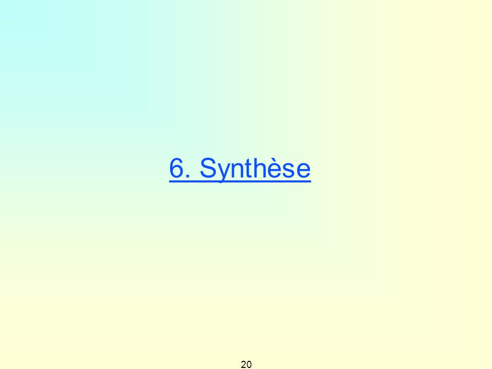 6. Synthèse 20