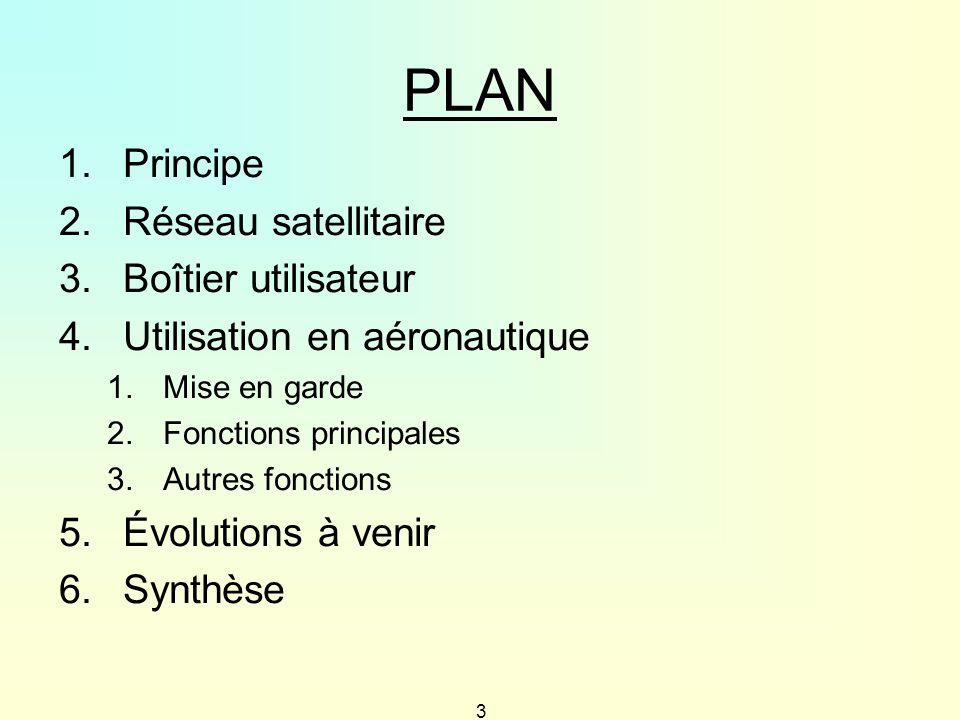 PLAN Principe Réseau satellitaire Boîtier utilisateur