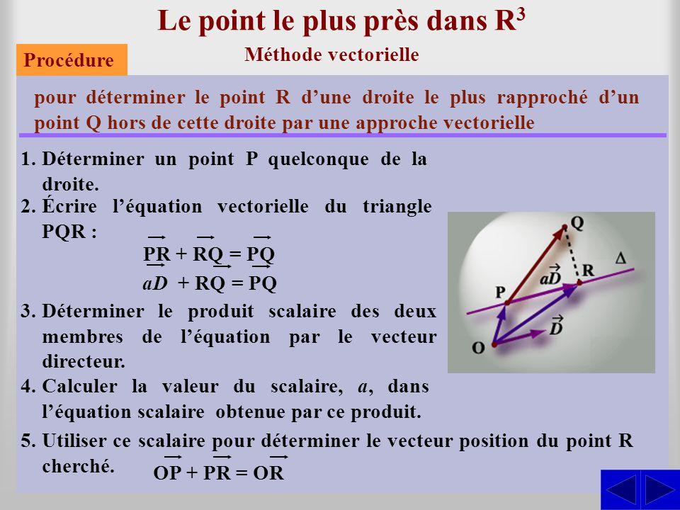 Le point le plus près dans R3