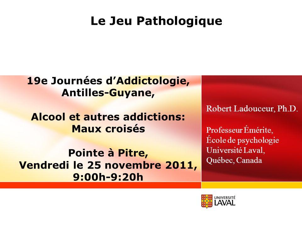 19e Journées d'Addictologie, Alcool et autres addictions: Maux croisés