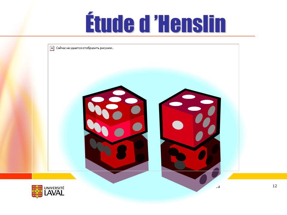 Étude d 'Henslin