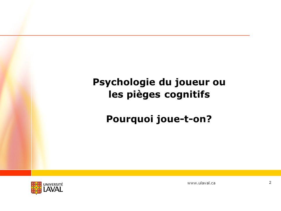 Psychologie du joueur ou