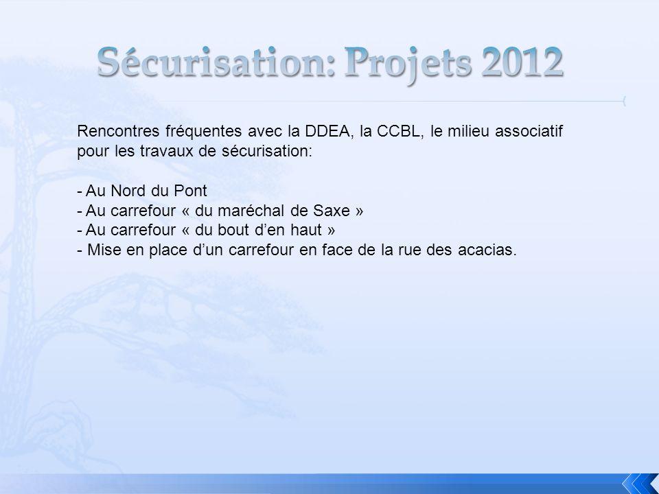 Sécurisation: Projets 2012