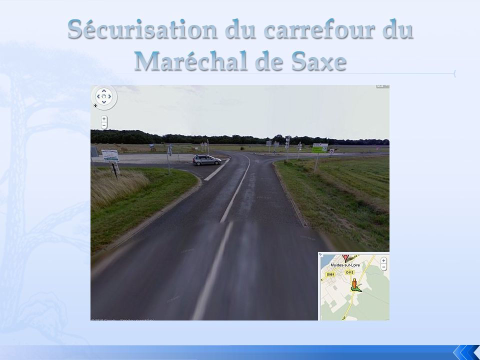 Sécurisation du carrefour du Maréchal de Saxe