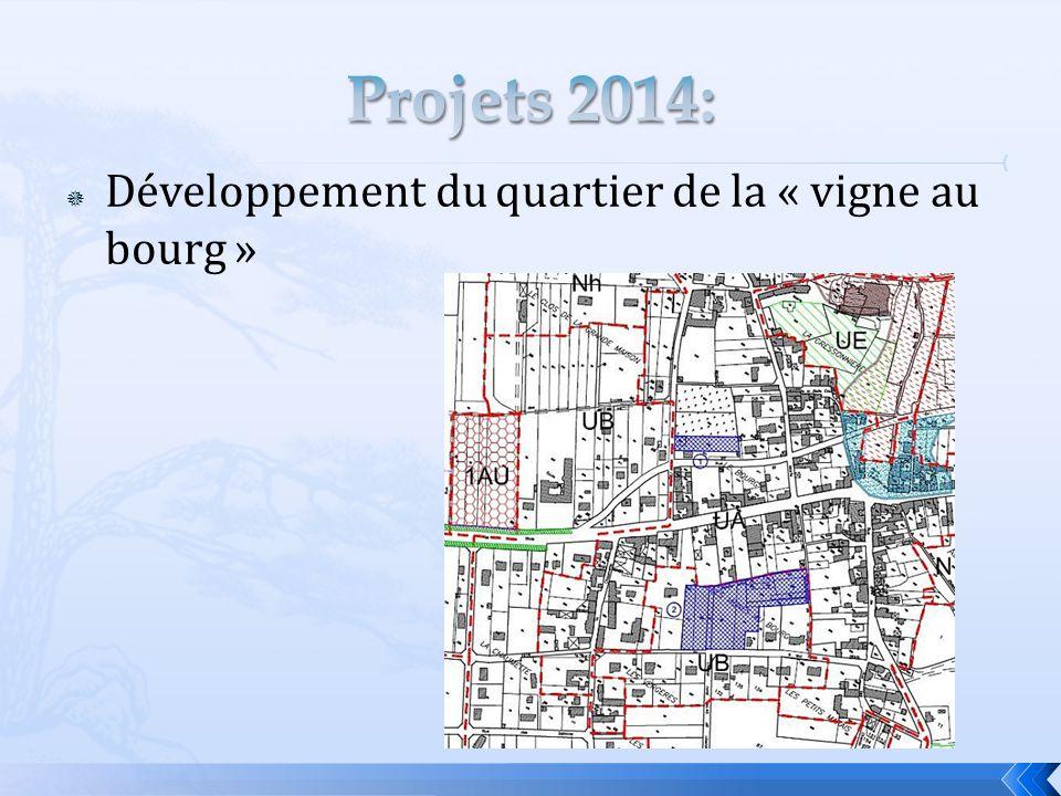 Projets 2014: Développement du quartier de la « vigne au bourg »