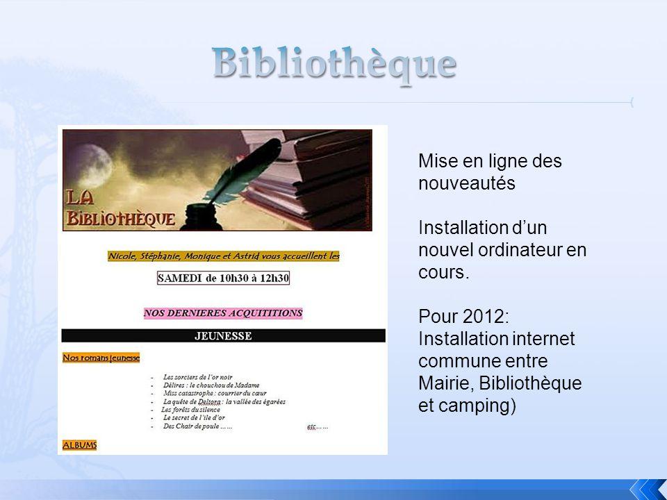 Bibliothèque Mise en ligne des nouveautés