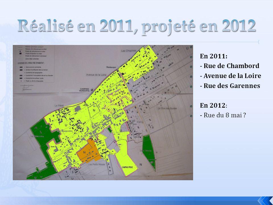 Réalisé en 2011, projeté en 2012 En 2011: - Rue de Chambord