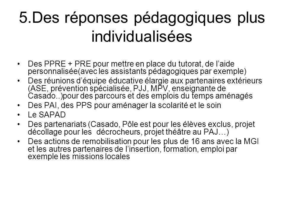 5.Des réponses pédagogiques plus individualisées