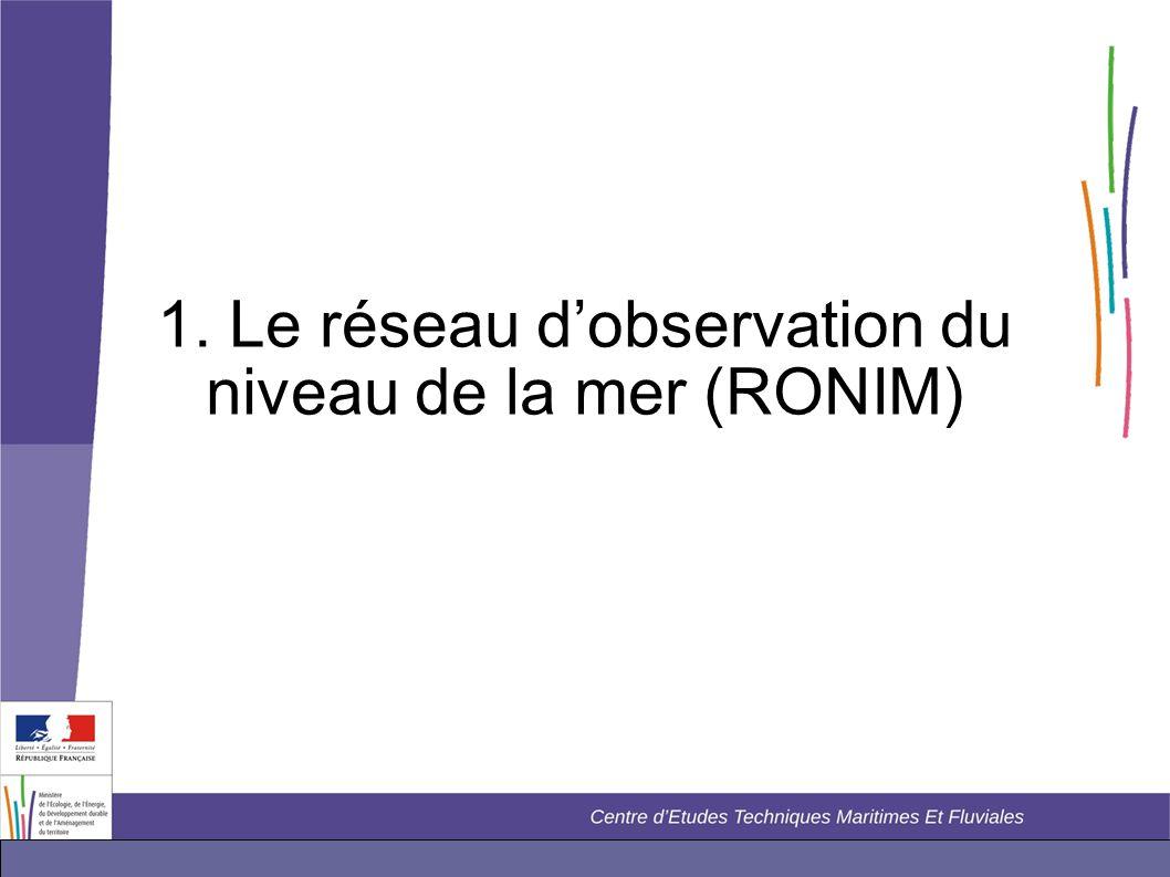 1. Le réseau d'observation du niveau de la mer (RONIM)