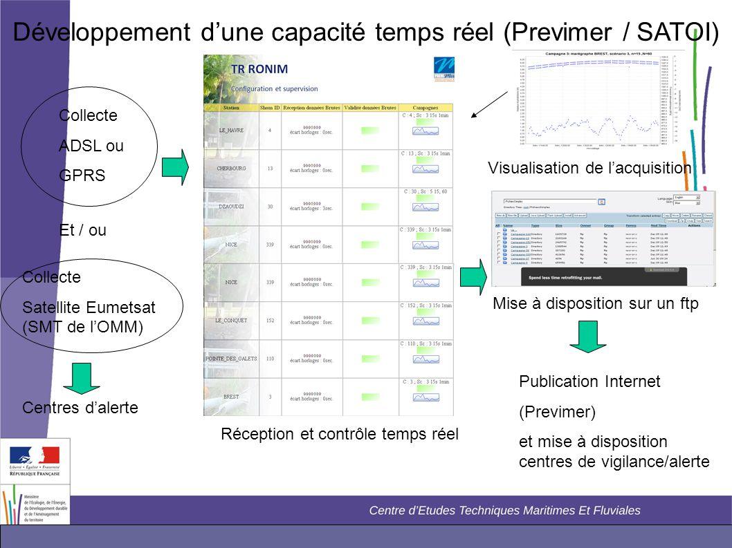 Développement d'une capacité temps réel (Previmer / SATOI)