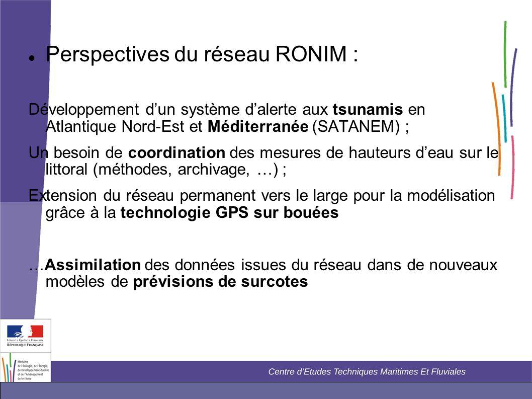 Perspectives du réseau RONIM :