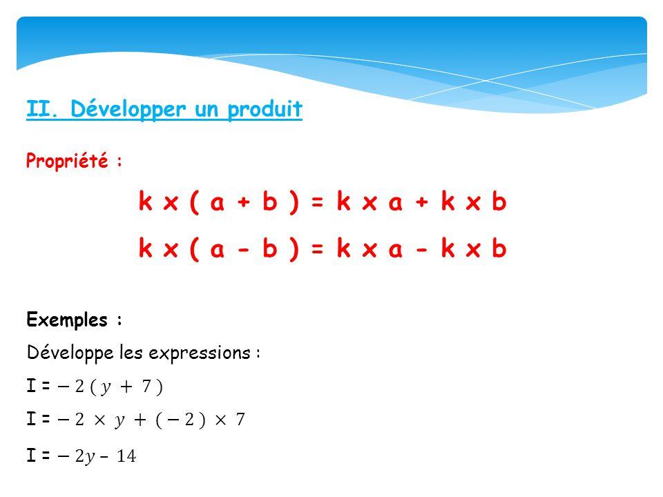 k x ( a + b ) = k x a + k x b k x ( a - b ) = k x a - k x b