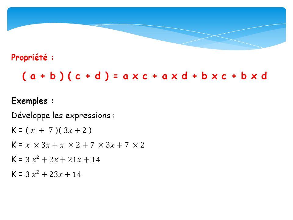 ( a + b ) ( c + d ) = a x c + a x d + b x c + b x d