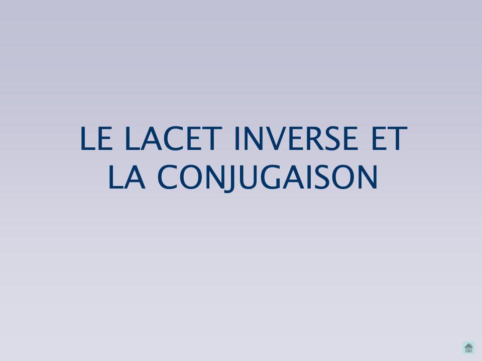 LE LACET INVERSE ET LA CONJUGAISON