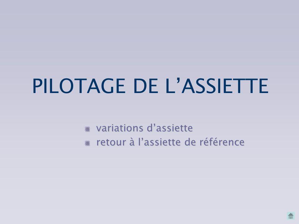 PILOTAGE DE L'ASSIETTE