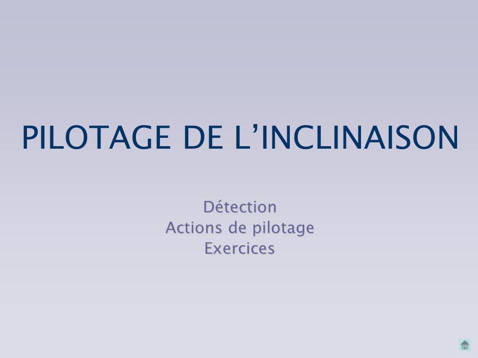 PILOTAGE DE L'INCLINAISON