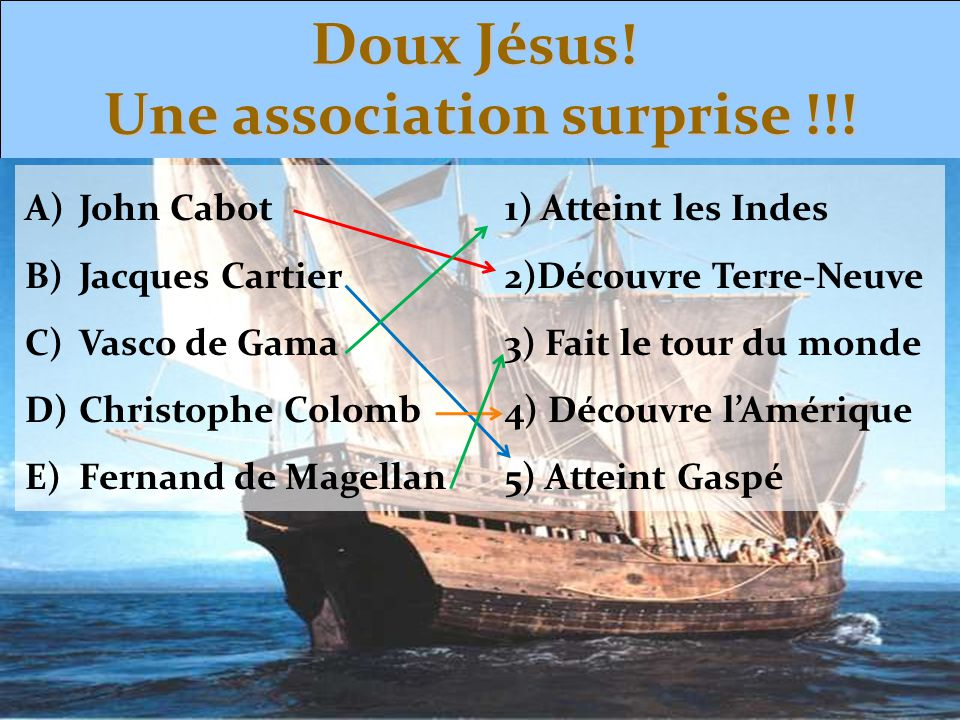 Doux Jésus! Une association surprise !!!