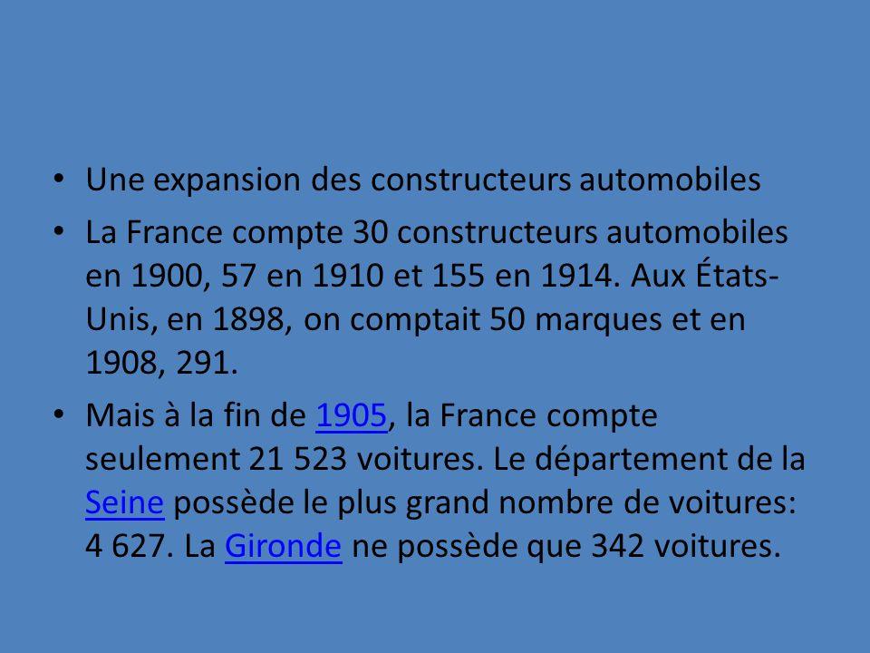 Une expansion des constructeurs automobiles