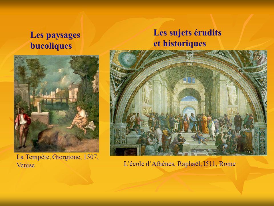 Les sujets érudits et historiques Les paysages bucoliques