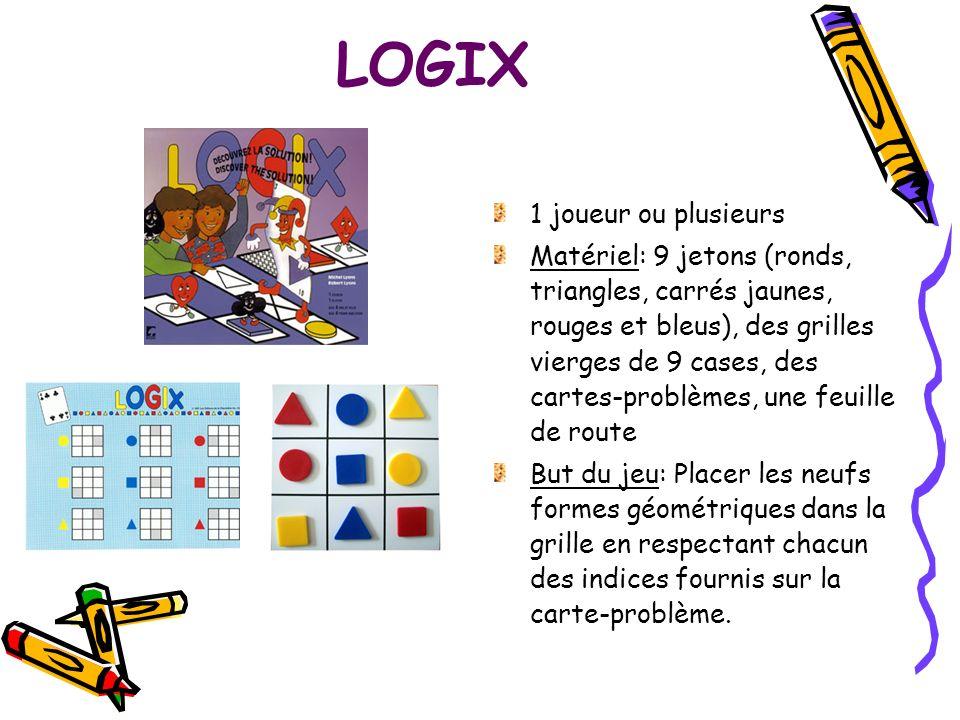 LOGIX 1 joueur ou plusieurs