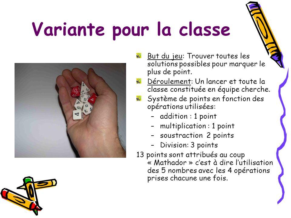 Variante pour la classe