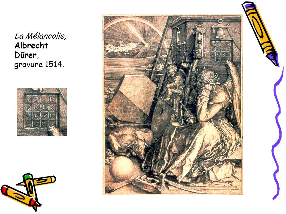 La Mélancolie, Albrecht Dürer, gravure 1514.