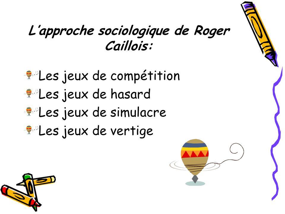 L'approche sociologique de Roger Caillois:
