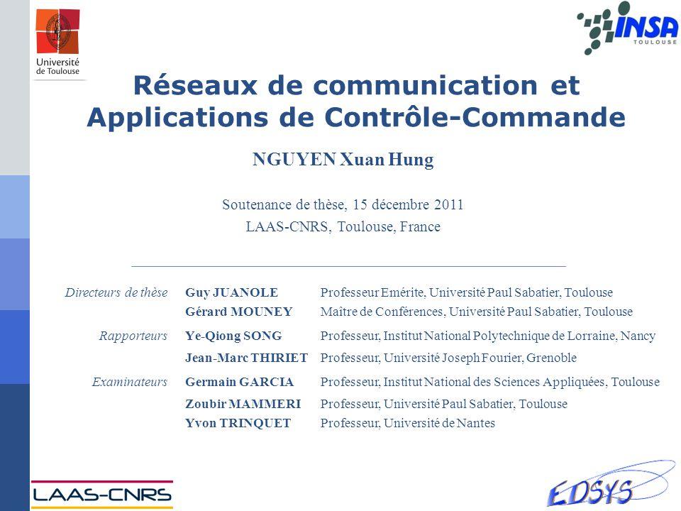 Réseaux de communication et Applications de Contrôle-Commande