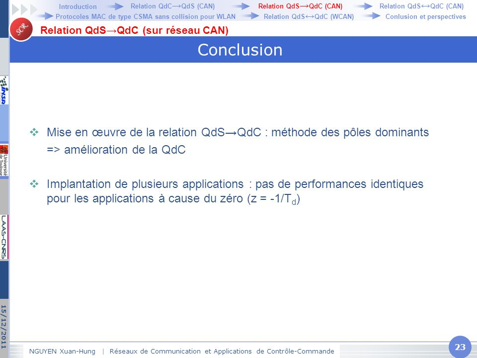 Relation QdC→QdS (CAN)
