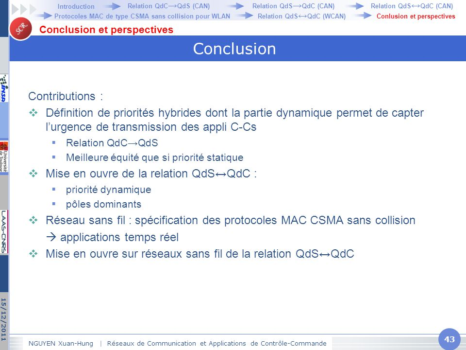 Conclusion Contributions :