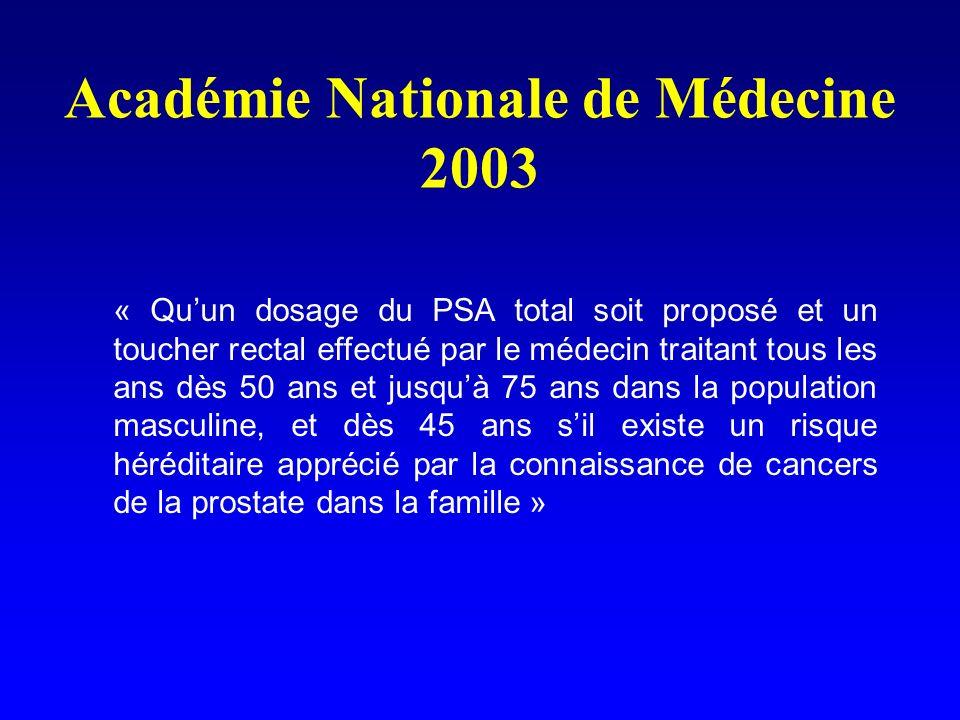Académie Nationale de Médecine 2003