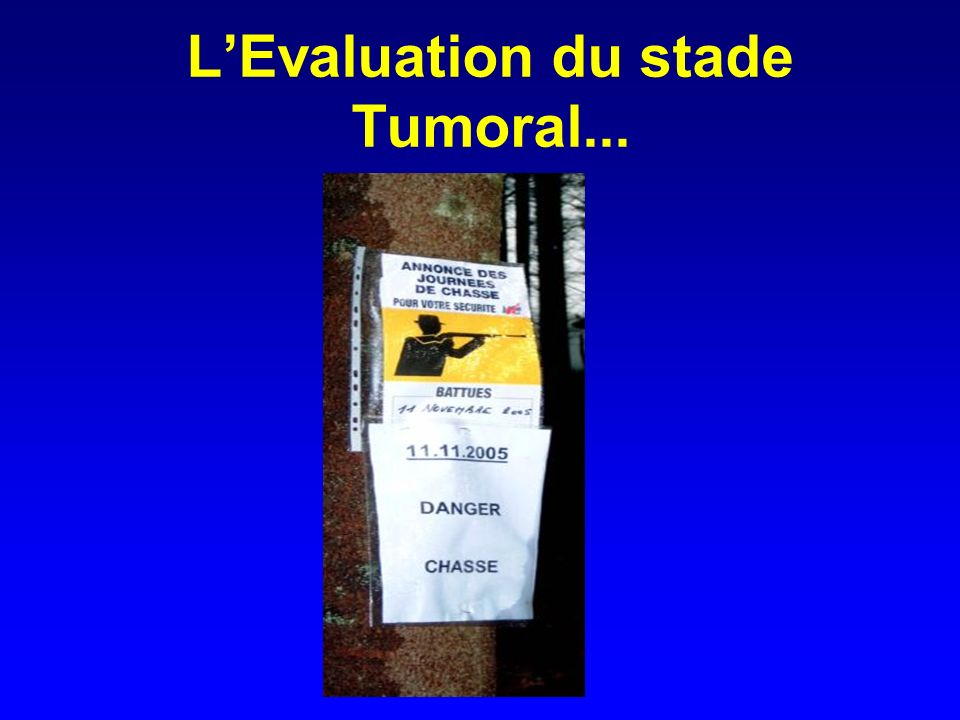 L'Evaluation du stade Tumoral...