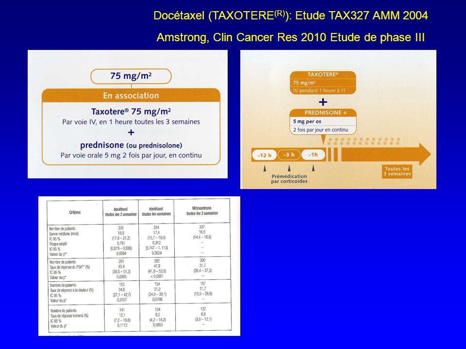 Docétaxel (TAXOTERE(R)): Etude TAX327 AMM 2004