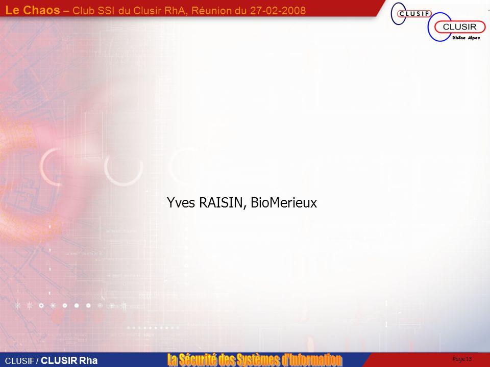 Yves RAISIN, BioMerieux