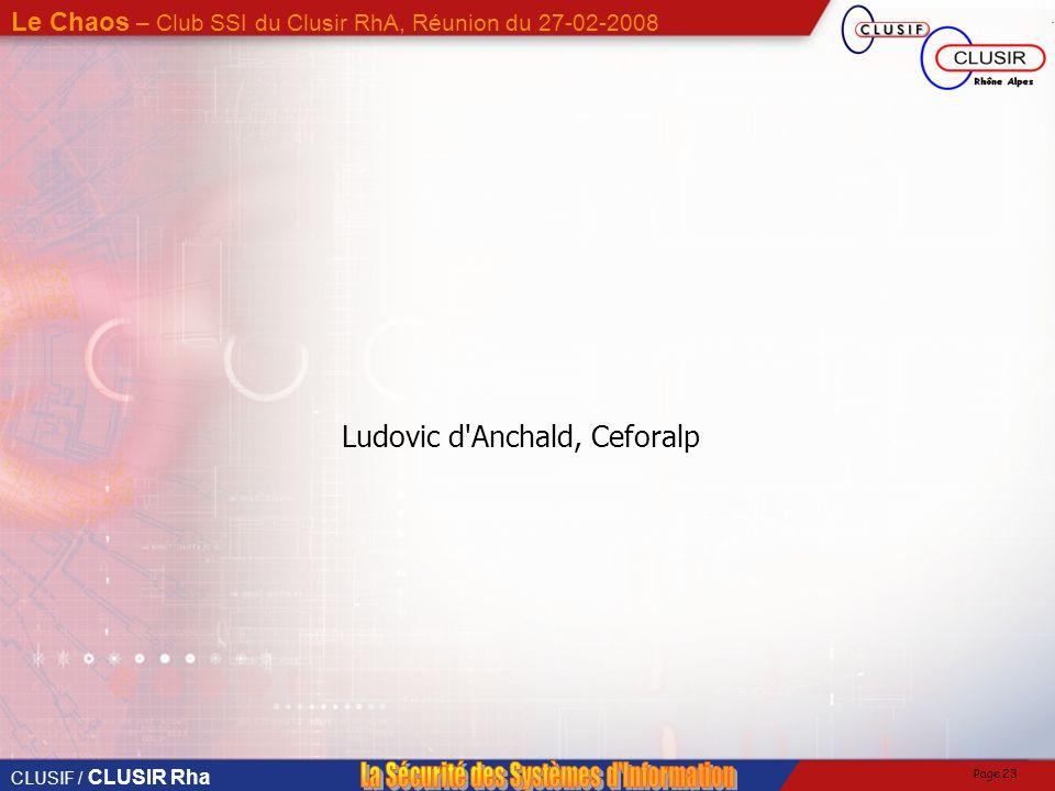 Ludovic d Anchald, Ceforalp