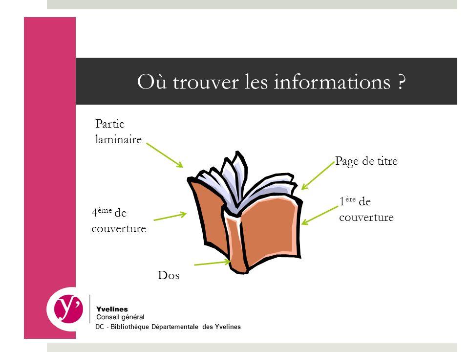 Où trouver les informations