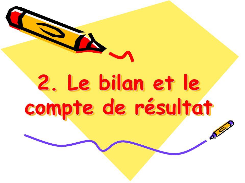 2. Le bilan et le compte de résultat