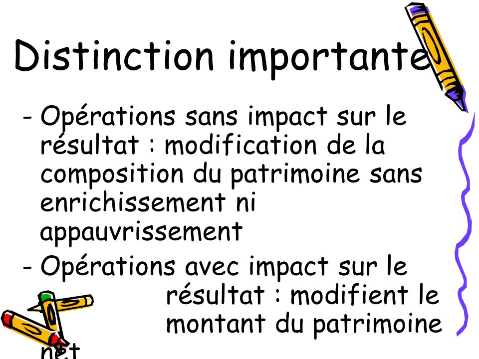 Distinction importante