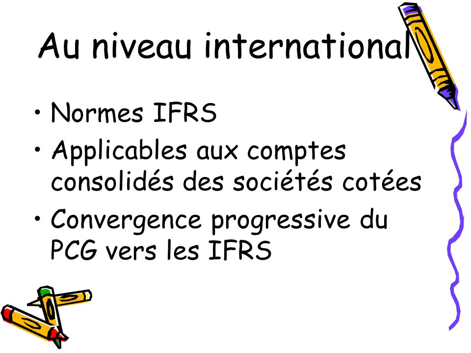 Au niveau international