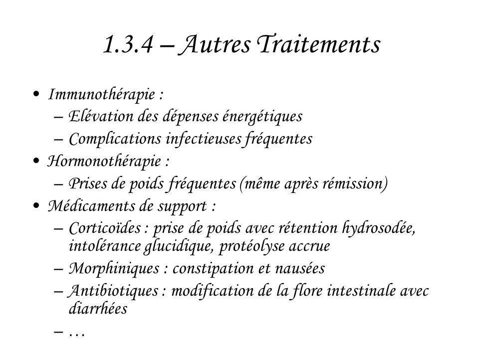 1.3.4 – Autres Traitements Immunothérapie :