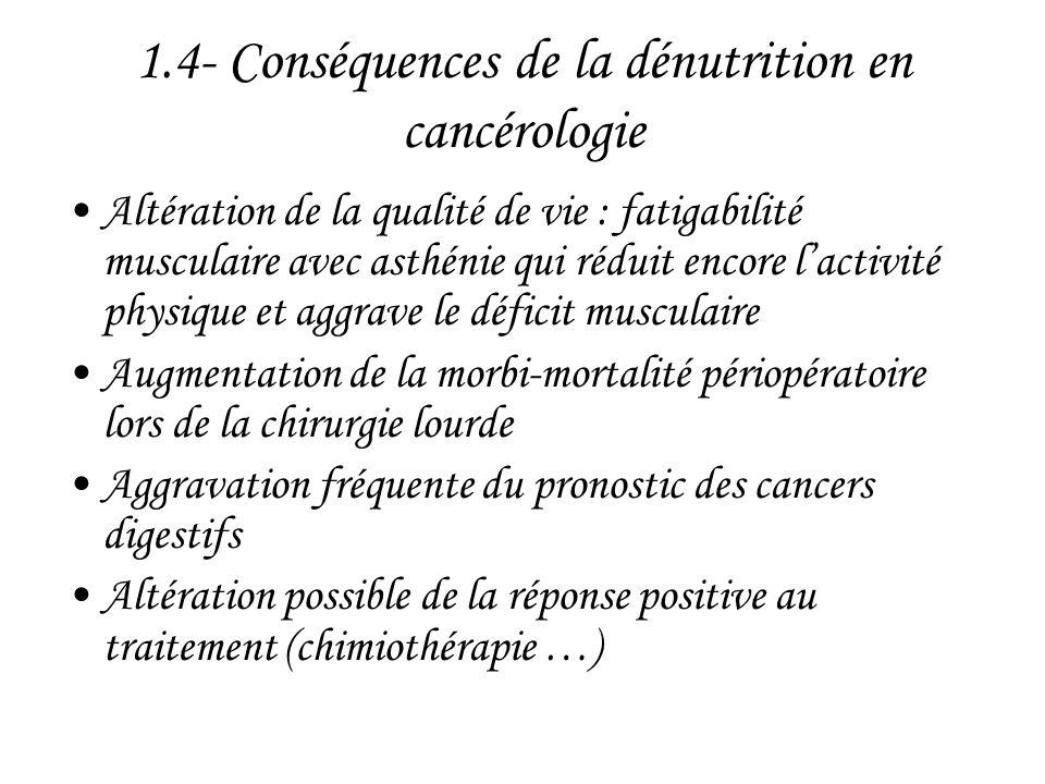 1.4- Conséquences de la dénutrition en cancérologie